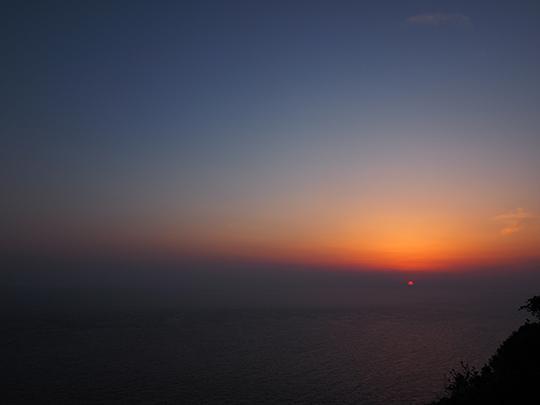 室戸岬からの夕焼け